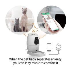 공장 OEM 전화 앱 원격 제어 스마트 피드 자동 개 Cat Feeder Wi-Fi 지원 카메라