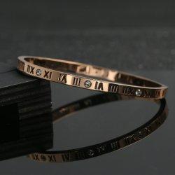 Marque de bijoux de mode femmes Diamond Bracelet en acier inoxydable