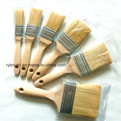 Волосы щеткой с природой Деревянные рукоятки и ПЭТ/PBT лампы накаливания для краски