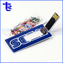 O titular do cartão de crédito de plástico retangular Unidade Flash USB Antivity de negócios