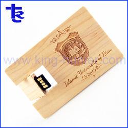 Melhor presente promoção Cartão de madeira negócios USB Thumb Drive de caneta