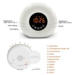 Wake-up Light светодиодный индикатор цифровой будильник для детей