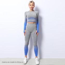 De la mujer elástico alto desgaste de ropa deportiva Fitness Gimnasio Juego de vestir traje ropa de Yoga