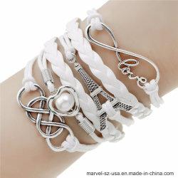 Armband van het Leer van de Armbanden van de Charme van de Toren van Eiffel van de Juwelen van de Vrouwen van de manier de Geometrische