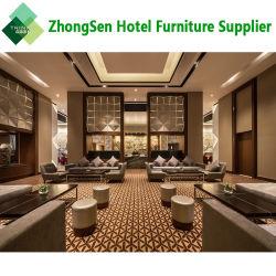 주문화 파이브 스타 현대 사치품은 호텔 로비 식사 및 거실을%s 텔레비젼 대 저장 내각 소파 의자 가구를 사용했다