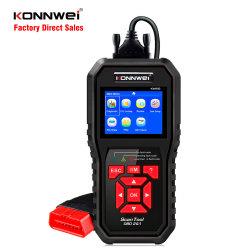 Konnwei Kw850 OBD2 Leitor de código Ferramenta Automotiva com 8 idiomas