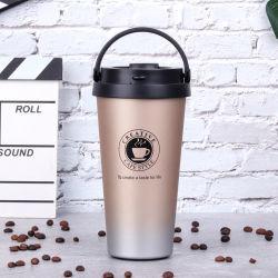 車のオフィスのギフトの環境に優しいThermosの旅行によって絶縁されるマグ500ml 17ozの習慣のロゴのためのタケステンレス鋼旅行コーヒー・マグ
