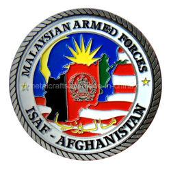 ダイカストの柔らかいエナメルの骨董品の銀のIsafアフガニスタンの挑戦硬貨(036)を
