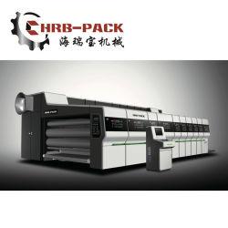 Der vollautomatische 5+1 Flexo Drucker Slotter sterben Scherblock-Maschine, Druck-Qualität selben wie Versatz