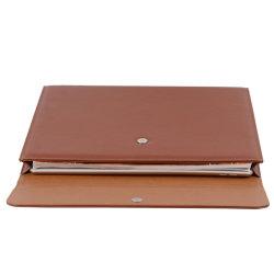 Бизнес-мужчин портфель считает A4 кожаные документ пакет файлов в папке