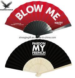 Double faces du papier de bambou les fans de la main d'impression