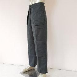 El trabajo de color verde oscuro con varios bolsillos de parche de prendas de vestir ropa de trabajo de la rodilla en el exterior de la carga de la fábrica para pantalones/mantenimiento