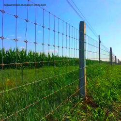 Alta resistência à tracção de malha de arame galvanizado empurrador do cavalo Deer vedação ou cabra Farm de malha de arame de cerca cerca para o gado