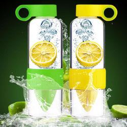 Bottiglia d'acqua da 628 ml in vetro di limone per succo di frutta