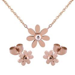 مجموعة مجوهرات من الفولاذ المقاوم للصدأ أزياء المجوهرات
