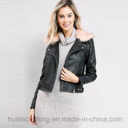 Des usines de vêtements en Chine en simili-cuir fourrure Blouson Moto garniture