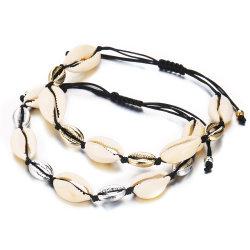 Creative Hawaiian main occasionnels Décoration Hand-Knitted Shell Naturelles bracelet