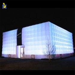 Im Freienweiß LED, das aufblasbares Luftblasen-Würfel-Festzelt-Zelt K5077 beleuchtet
