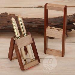Stylo à bille de bois d'érable cadeau en bois de rose stylo avec support de bois