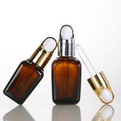 مستحضر تجميل [أليف ويل] [إسّنتيل ويل] [إ-ليقويد] 30 [مل] زجاجات كهرمانيّة زجاجيّة مربّعة مع ماصّة زجاجيّة