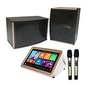 Nuevo diseño de altavoces portátiles de gran potencia del reproductor de Karaoke con micrófonos inalámbricos para que las partes o Home