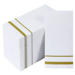 200 Pack papier décoratif jetables Guest Serviettes de toilette Serviettes de table