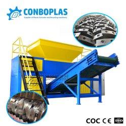 PP tubo PVC ABS PE Cable Film Single Doble Eje Trituradora de residuos de plástico