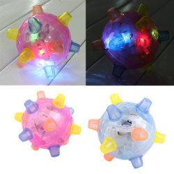 LEDの跳躍の振動の健全で敏感な振動の動力を与えられた状況の子供の点滅の球のおもちゃ