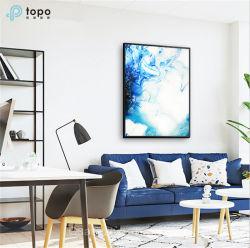 De color azul océano Ultra Clear bajo el hierro Glass-Painting (MR-YB6-2026)