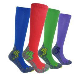 Unisexe Marathon Coolmax seul Quick Dry collants de chaussettes de compression de football