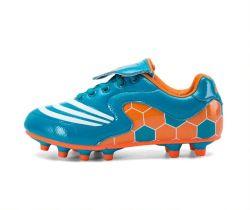 Beste Preis-Jungen-Fußball-Bügelen, Kinder PU-Fußball-Schuhe für Zoll, Fußball-Schuhe für Kinder