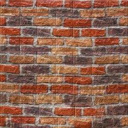 黒い3D石造りの煉瓦PVCビニールのホーム壁のペーパーまたは壁紙との赤