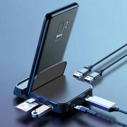 7 في 1 منصة هاتف مكتبي طراز C Power توصيل لوحة لعب المحول وحدة شحن USB قاعدة توصيل لـ Samsung لشركة Huawei