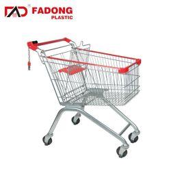 Draht-Stahlsupermarkt-Einkaufen-Laufkatze-Karre
