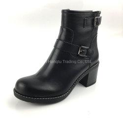 De vlakke Laarzen van de Winter van het Leer van de Laarzen van de Laarzen van de Sneeuw van de Vrouwen van Schoenen Korte