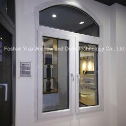 Haut de la conception Yika arc double fenêtre En Aluminium En Verre trempé