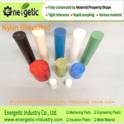 Hastes de nylon virgens, PA6 e PA66 da haste de nylon, Barra de nylon, Blocos de nylon, Blocos de plástico de nylon, Haste de Nylon
