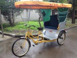 Pedal de travão não de triciclo passageiro Rickshaw aluguer de bicicletas
