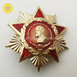 ギフト3Dの高品質のロシアLelinの星の軍隊は印によって磨かれるエナメルの金属を与える
