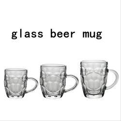 Écologique et le stock 8oz 16oz 20oz tasse en verre de bière vide clair de boire de la Verrerie tasse avec poignée