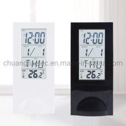 Прозрачные ЖК-дисплей цифровой будильник с календарем и таймера