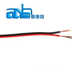 0,75mm2 plana preto e vermelho do cabo do altifalante isento de oxigénio