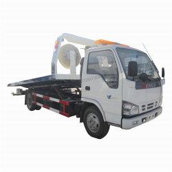 O Japão Isuzu 4x 600p2 120HP na bandeja de inclinação do veículo de reboque direito médio 4 toneladas 5 ton caminhão de reboque de Reboque de mesa