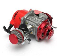 49cc Motor de carreras del Manual del motor refrigerado por aire de color rojo para Mini Pocket Mini Moto ATV Dirt Bike