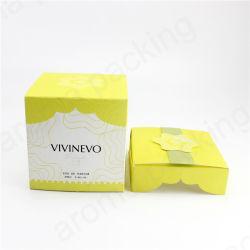 Novo Design Amarelo Vela Titular jarra de vidro basculante com Box