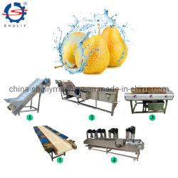 Fruto de la línea de procesamiento de vegetales del refrigerador de limpiador de la arandela de pelo Lavadora