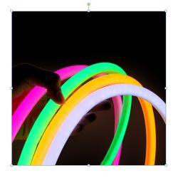 Streifen 360 des Neon-LED rundes flexibles Neonlicht-Gefäß-Seil-im Freien dekorative wasserdichte Beleuchtung Wechselstrom-220V 230V 240V mit Netzstecker
