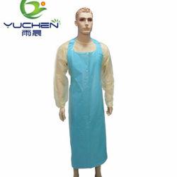 처분할 수 있는 PE 앞치마 적 수술 병원 사용 집안일 LDPE HDPE
