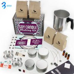 도매 DIY 캔들 밀랍 세트 간장 캔들 만들기 키트 홈 장식을 위한