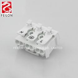 Nouveau produit 923-3/P03 rapide Appuyez sur la borne borne de câblage à quatre positions lampe LED Plug-in de fil de masse en appuyant sur la borne connecteur d'un dans l'arborescence out